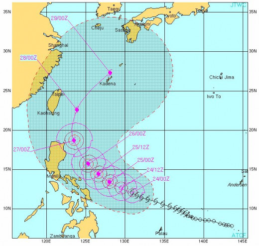 Tracking a Typhoon