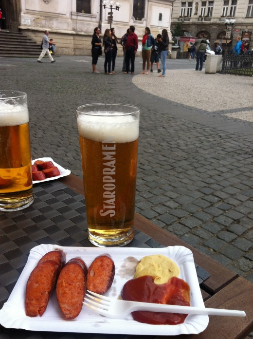 Staropraman - light pilsner style beer that is great with sausages