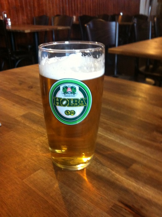 Holba - a bit too watery for me. From a small brewer near Prague. Not my favourite!
