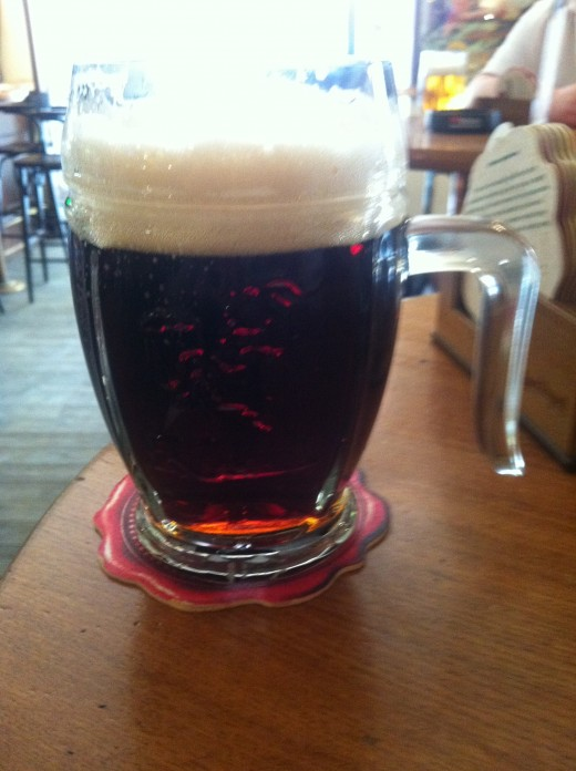 Kozel, a local stout that really kicks a punch. Light in flavour, but not alcohol.