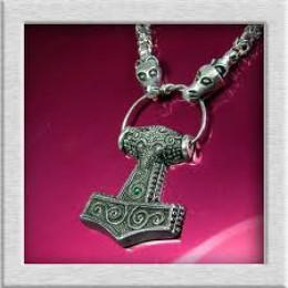 Manx amulet casting of Thor's hammer, Mjoellnir