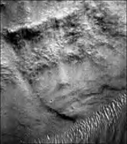 Just one of the many faces on Mars
