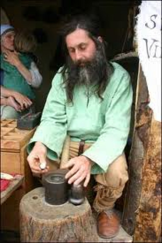 Craftsman at the 2006 Isle of Man Viking Festival
