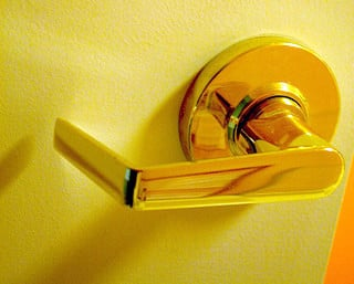Door lever will be easier to use for the elderly people as well as for children