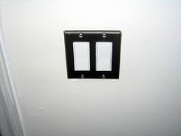 Rocker type light switch is easy if your are old and suffer from arthritis