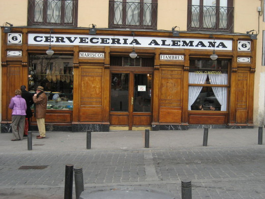 Cervecería Alemana at the Plaza Santa Ana