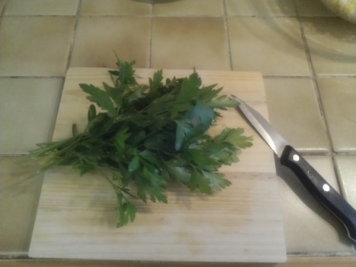 The parsley rich in vitamin C helps the absorption of other nutrients like iron and calcium