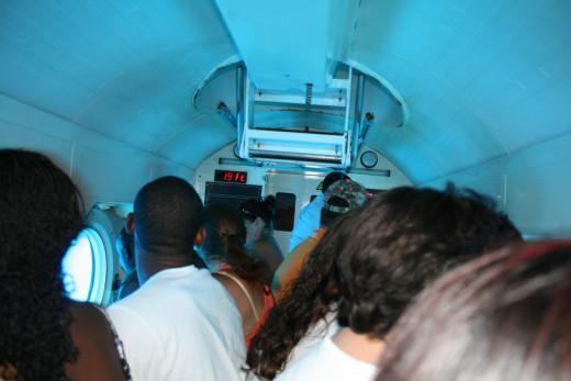 Aboard the Atlantis submarine