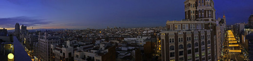 Panoramic view of the Gran Via