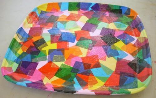 Tissue paper modge podge