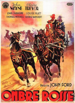 Stagecoach (1939) Italian poster