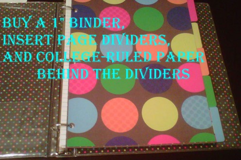 Remember to re-organize your binders frequently.  Don't mix up papers from different subjects- even if you are in a hurry- that's how papers get lost. Check before you throw anything out if you are having a cumulative final!