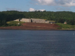 View of Fort Knox across the Penosbscot River from Verona Island