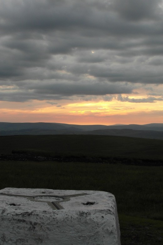 Pendle Beacon sunset