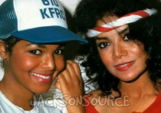 Latoya with younger sister Janet in 1986