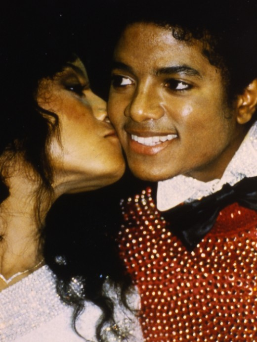 Latoya and younger brother Michael at American Music Awards 1984