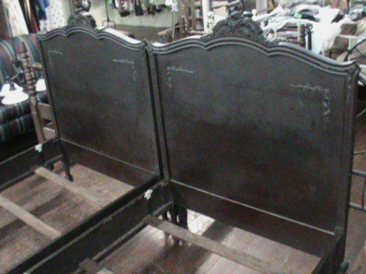 An Antique Bed found at a Consignment Store