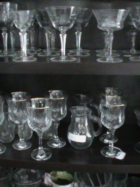 very fine glassware found in a Consignment Store