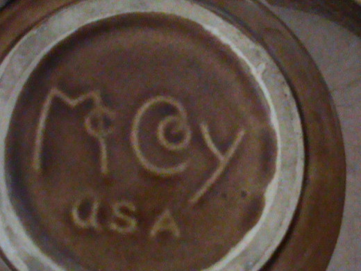 McCoy Bottom of pottery found in a Consignment Store