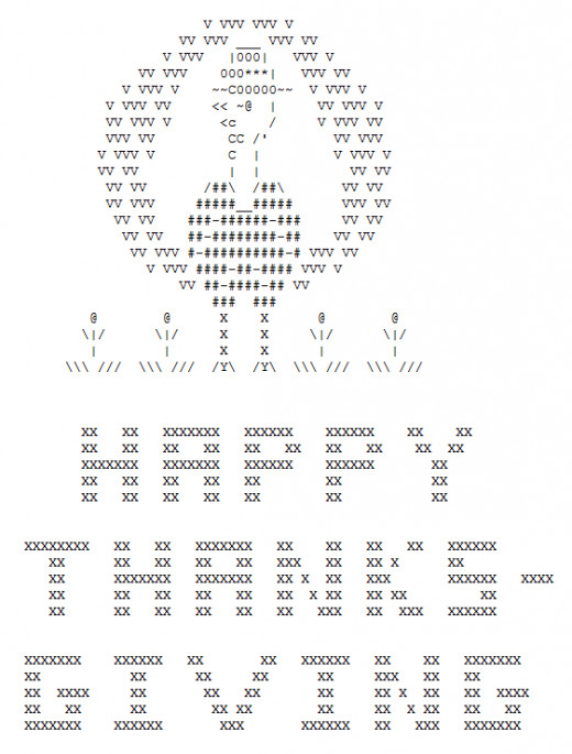One Line Ascii Art Holidays : Happy thanksgiving in ascii text art hubpages