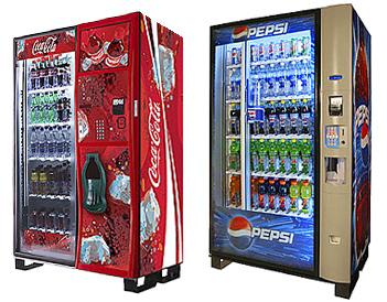 Coke & Pepsi vending machines