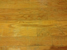 Our floors were badly scratched from decades of use!