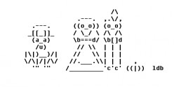 Happy Thanksgiving in ASCII Text Art
