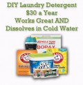 Homemade Laundry Detergent Recipe for $30 a Year