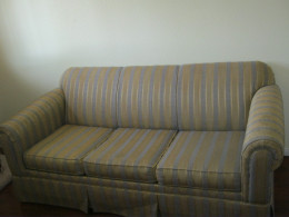The full size sofa bed we were able to pick up from the hotel liquidation store. Only $100 was a great bargain, and the mattress actually looks almost brand new! I had priced new sofa beds for about $500.
