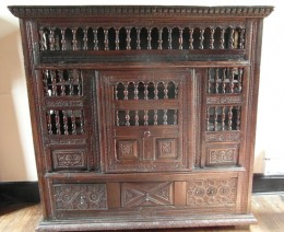 wooden chest at Samlesbury Hall