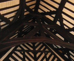 wooden beams, Samlesbury Hall