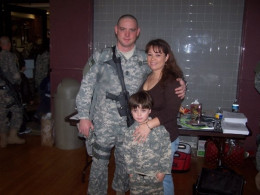 MSG Randall Fletcher, wife Marina and son Mason