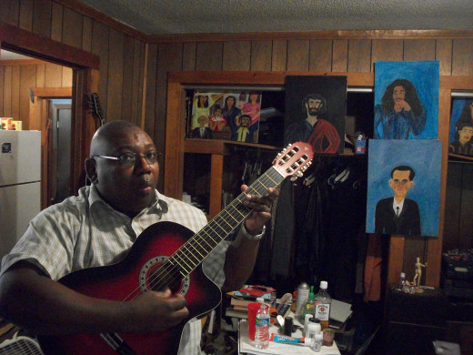 Me with my new guitar.