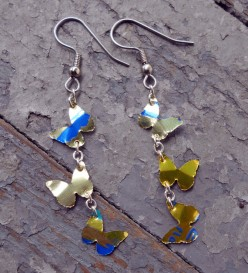 How to Make Earrings from Recycled Aluminum Soda Can Jewelry Tutorial