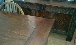 I use beeswax and carnauba on our old furniture but, as you can tell, I don't polish too hard :-)