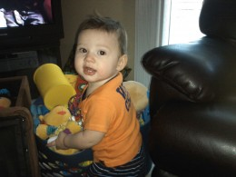 Ethan at 10 months.