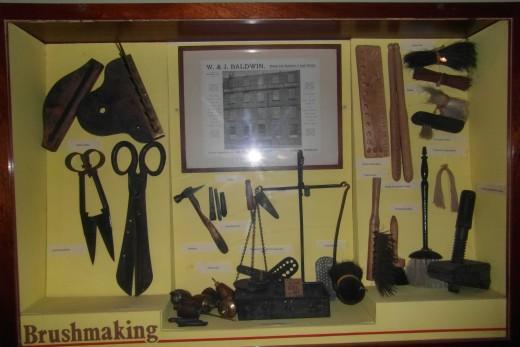 19th century brush making  equipment, Townley