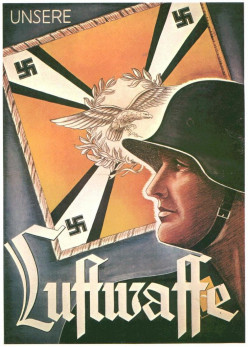 A Nazi propaganda poster calling for support of the Luftwaffe, Germany's air force.