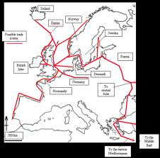 Slaving routes - north-south, east-west, where trade was concerned, slavery was best