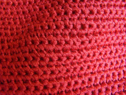Single crochet swatch