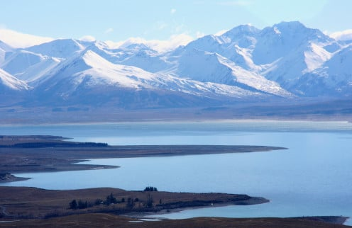 Veiw from Mt John Observatory at Tekapo. There are no houses and people in this view, just nature!