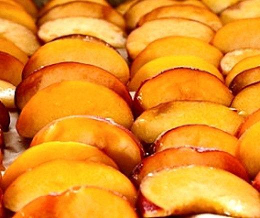 Freezing Peach Slices
