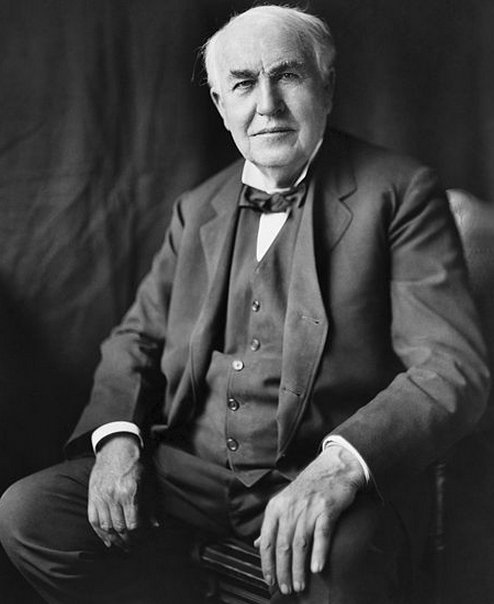 Thomas Edison, the man who invested the light bulb.