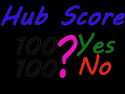 What is the maximum score of a hub in hubpages?