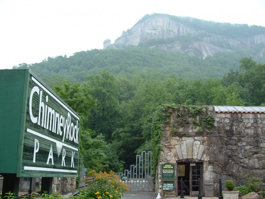 Chimney Rock in North Carolina, a hill where real fairies have been seen.