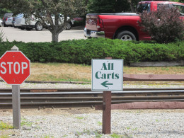 Be sure to pay attention to the signs and avoid the trains that pass through the golf course at North Conway Country Club!