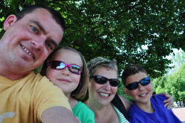 4 Brits abroad - that's us on Ellis Island