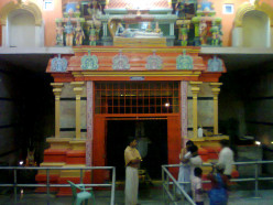 NO ONE HAS BUILT THIS TEMPLE AS IT WAS ON A ROCK BRICK WORK WALL IS ON 3 SIDES.THE BACK IS ROAK.