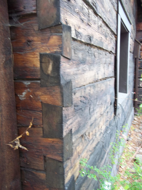 The 'dovetail' corners of the MacDougall cabin are still tight and a wonderful example of the expertise of the early pioneers' craftmanship and attention to detail.