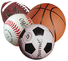 Baseball, Basketball, Football and Soccer; some of the more popular sports in the US.
